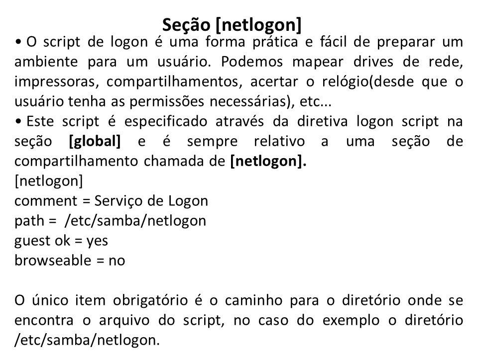 Seção [netlogon]